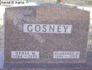 GOSNEY, CLARENCE H. - Chase County, Nebraska   CLARENCE H. GOSNEY - Nebraska Gravestone Photos