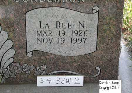 CHRISTNER GUNDERSON, LA RUE N. - Chase County, Nebraska | LA RUE N. CHRISTNER GUNDERSON - Nebraska Gravestone Photos
