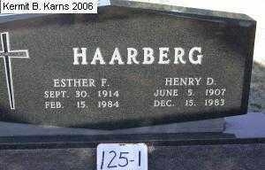 HAARBERG, ESTHER F. - Chase County, Nebraska | ESTHER F. HAARBERG - Nebraska Gravestone Photos