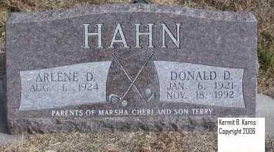 HAHN, DONALD D. - Chase County, Nebraska | DONALD D. HAHN - Nebraska Gravestone Photos