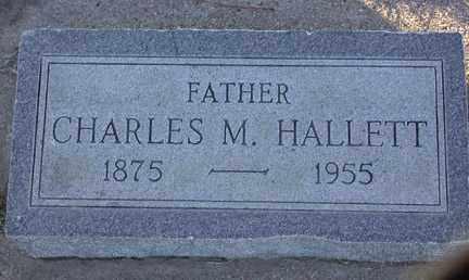 HALLETT, CHARLES M. - Chase County, Nebraska | CHARLES M. HALLETT - Nebraska Gravestone Photos
