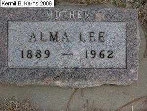 HAMILTON, ALMA LEE - Chase County, Nebraska | ALMA LEE HAMILTON - Nebraska Gravestone Photos