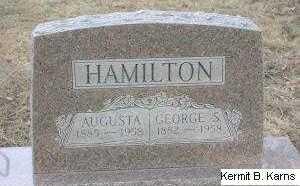 HAMILTON, GEORGE SELLARS - Chase County, Nebraska | GEORGE SELLARS HAMILTON - Nebraska Gravestone Photos