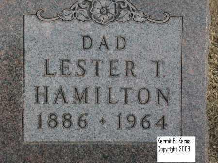 HAMILTON, LESTER T. - Chase County, Nebraska | LESTER T. HAMILTON - Nebraska Gravestone Photos
