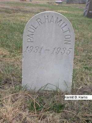 HAMILTON, PAUL RAYMOND - Chase County, Nebraska | PAUL RAYMOND HAMILTON - Nebraska Gravestone Photos