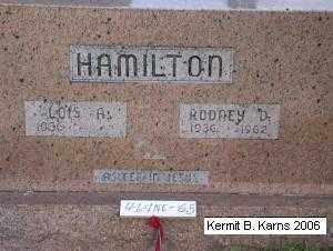 HAMILTON, LOIS - Chase County, Nebraska | LOIS HAMILTON - Nebraska Gravestone Photos