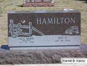 HAMILTON, LELA MARIE - Chase County, Nebraska | LELA MARIE HAMILTON - Nebraska Gravestone Photos