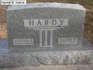 HARDY, RALPH OTIS 1897-1974 - Chase County, Nebraska   RALPH OTIS 1897-1974 HARDY - Nebraska Gravestone Photos