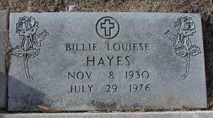 HAYES, BILLIE LOUISE - Chase County, Nebraska   BILLIE LOUISE HAYES - Nebraska Gravestone Photos