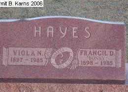 HAYES, VIOLA N. - Chase County, Nebraska | VIOLA N. HAYES - Nebraska Gravestone Photos