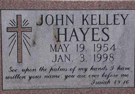HAYES, JOHN KELLEY - Chase County, Nebraska | JOHN KELLEY HAYES - Nebraska Gravestone Photos