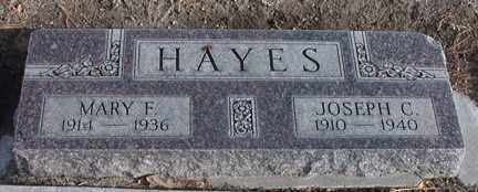 HAYES, MARY F. - Chase County, Nebraska | MARY F. HAYES - Nebraska Gravestone Photos