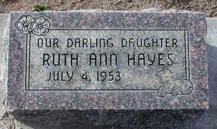 HAYES, RUTH ANN - Chase County, Nebraska   RUTH ANN HAYES - Nebraska Gravestone Photos