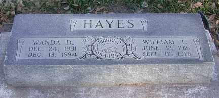 HAYES, WILLIAM THOMAS - Chase County, Nebraska | WILLIAM THOMAS HAYES - Nebraska Gravestone Photos