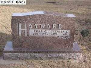 HARRISON HAYWARD, ROSA CAROLINE 1900-1969 - Chase County, Nebraska | ROSA CAROLINE 1900-1969 HARRISON HAYWARD - Nebraska Gravestone Photos