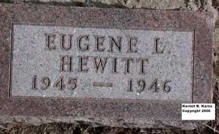 HEWITT, EUGENE L. - Chase County, Nebraska | EUGENE L. HEWITT - Nebraska Gravestone Photos