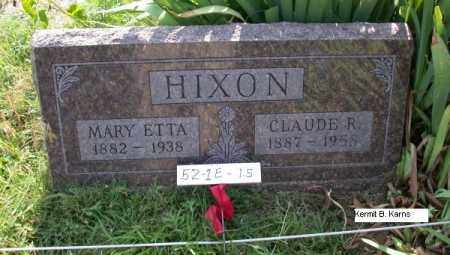 HIXON, MARY ETTA 1882-1938 - Chase County, Nebraska | MARY ETTA 1882-1938 HIXON - Nebraska Gravestone Photos