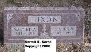 HIXON, MARY ETTA - Chase County, Nebraska | MARY ETTA HIXON - Nebraska Gravestone Photos