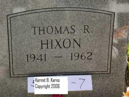 HIXON, THOMAS R. - Chase County, Nebraska | THOMAS R. HIXON - Nebraska Gravestone Photos