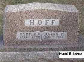 HANNA HOFF, MYRTLE VALETA - Chase County, Nebraska   MYRTLE VALETA HANNA HOFF - Nebraska Gravestone Photos