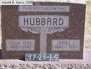 HUBBARD, BERNARD W. 1908-1980 - Chase County, Nebraska | BERNARD W. 1908-1980 HUBBARD - Nebraska Gravestone Photos