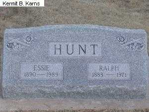 WILEY HUNT, ESSIE LULA 1890-1989 - Chase County, Nebraska | ESSIE LULA 1890-1989 WILEY HUNT - Nebraska Gravestone Photos