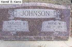 JOHNSON, WAYNE W. 1922-1974 - Chase County, Nebraska | WAYNE W. 1922-1974 JOHNSON - Nebraska Gravestone Photos