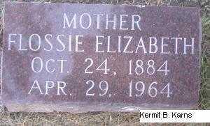 KANOST, FLOSSIE ELIZABETH - Chase County, Nebraska | FLOSSIE ELIZABETH KANOST - Nebraska Gravestone Photos