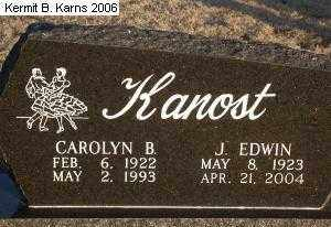 KANOST, JAMES EDWIN 'ED' - Chase County, Nebraska | JAMES EDWIN 'ED' KANOST - Nebraska Gravestone Photos