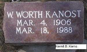 KANOST, WILLIAM WORTH - Chase County, Nebraska | WILLIAM WORTH KANOST - Nebraska Gravestone Photos