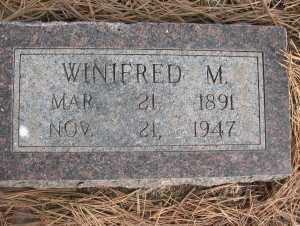 KANOST, WINIFRED M. 1891-1947 - Chase County, Nebraska | WINIFRED M. 1891-1947 KANOST - Nebraska Gravestone Photos