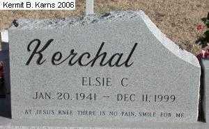 MERRILL KERCHAL, ELSIE C. - Chase County, Nebraska | ELSIE C. MERRILL KERCHAL - Nebraska Gravestone Photos