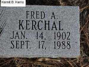 KERCHAL, FRED A. - Chase County, Nebraska   FRED A. KERCHAL - Nebraska Gravestone Photos