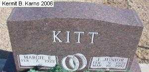 KITT, JOHN JUNIOR - Chase County, Nebraska | JOHN JUNIOR KITT - Nebraska Gravestone Photos