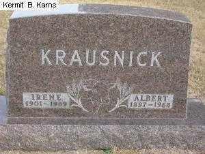 "KRAUSNICK, ANNA IRENE ""IRENE"" 1901-1989 - Chase County, Nebraska | ANNA IRENE ""IRENE"" 1901-1989 KRAUSNICK - Nebraska Gravestone Photos"