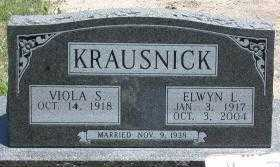 KRAUSNICK, VIOLA SOPHIA - Chase County, Nebraska   VIOLA SOPHIA KRAUSNICK - Nebraska Gravestone Photos
