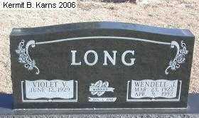 LONG, WENDELL JAMES - Chase County, Nebraska | WENDELL JAMES LONG - Nebraska Gravestone Photos