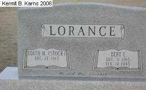 STOCK LORANCE, EDITH M. - Chase County, Nebraska | EDITH M. STOCK LORANCE - Nebraska Gravestone Photos