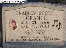 LORANCE, BRADLEY SCOTT - Chase County, Nebraska | BRADLEY SCOTT LORANCE - Nebraska Gravestone Photos