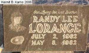LORANCE, RANDY LEE - Chase County, Nebraska   RANDY LEE LORANCE - Nebraska Gravestone Photos