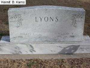 LYONS, PHILLYS E. 1918- - Chase County, Nebraska | PHILLYS E. 1918- LYONS - Nebraska Gravestone Photos