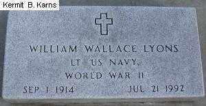 LYONS, WILLIAM W. 1914-1992 - Chase County, Nebraska   WILLIAM W. 1914-1992 LYONS - Nebraska Gravestone Photos