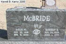 STINNETTE MCBRIDE, LOLA M. - Chase County, Nebraska   LOLA M. STINNETTE MCBRIDE - Nebraska Gravestone Photos