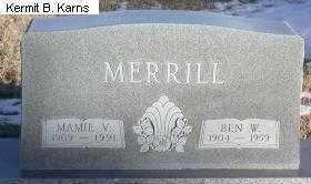 MERRILL, BENJAMIN W.. - Chase County, Nebraska   BENJAMIN W.. MERRILL - Nebraska Gravestone Photos
