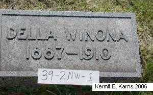 MERRILL, DELLA WINONA - Chase County, Nebraska | DELLA WINONA MERRILL - Nebraska Gravestone Photos