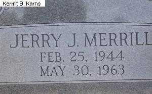 MERRILL, JERRY J. - Chase County, Nebraska | JERRY J. MERRILL - Nebraska Gravestone Photos