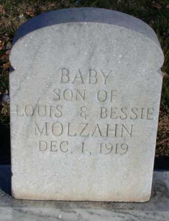 MOLZAHN, BABY SON - Chase County, Nebraska | BABY SON MOLZAHN - Nebraska Gravestone Photos