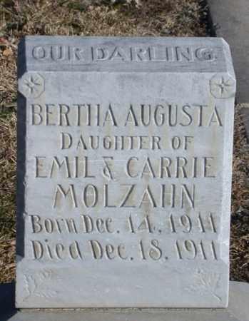 MOLZAHN, BERTHA AUGUSTA - Chase County, Nebraska | BERTHA AUGUSTA MOLZAHN - Nebraska Gravestone Photos