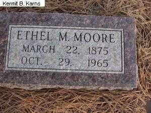 GIBSON MOORE, ETHEL MINTA 1875-1965 - Chase County, Nebraska   ETHEL MINTA 1875-1965 GIBSON MOORE - Nebraska Gravestone Photos