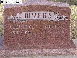 MYERS, LUCILLE C. 1916-1974 - Chase County, Nebraska | LUCILLE C. 1916-1974 MYERS - Nebraska Gravestone Photos